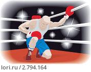 Купить «Боксер, стоящий на колене», иллюстрация № 2794164 (c) Антон Гриднев / Фотобанк Лори