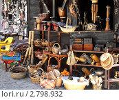 Купить «Сувенирная лавка. Старый Созополь», фото № 2798932, снято 22 августа 2011 г. (c) Петрова Надежда / Фотобанк Лори