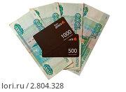 Электронные и реальные деньги, эксклюзивное фото № 2804328, снято 18 сентября 2011 г. (c) Константин Косов / Фотобанк Лори