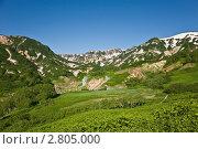 Долина гейзеров. Общий вид. (2011 год). Редакционное фото, фотограф Борис Иванов / Фотобанк Лори