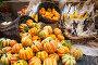 Урожай тыквы на рыночном прилавке осенью, фото № 2807840, снято 11 сентября 2011 г. (c) Николай Винокуров / Фотобанк Лори