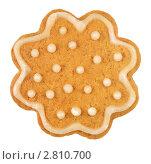 Купить «Имбирное печенье на белом фоне», фото № 2810700, снято 14 сентября 2011 г. (c) Наталья Бидюкова / Фотобанк Лори