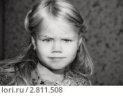 Ч/б портрет девочки. Стоковое фото, фотограф Евгения Шийка / Фотобанк Лори