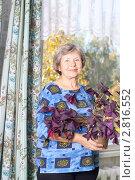 Купить «Женщина с цветком», эксклюзивное фото № 2816552, снято 22 сентября 2011 г. (c) Майя Крученкова / Фотобанк Лори