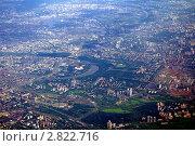 Вид на центр Москвы из самолета (2010 год). Стоковое фото, фотограф Алексей Стоянов / Фотобанк Лори