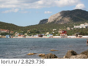 Купить «Горы, море, пляж, Крым», фото № 2829736, снято 6 августа 2011 г. (c) Робул Дмитрий / Фотобанк Лори