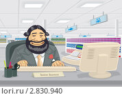 Купить «Торговец в магазине за кассой», иллюстрация № 2830940 (c) Антон Гриднев / Фотобанк Лори