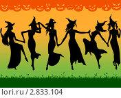 Танец ведьм. Стоковая иллюстрация, иллюстратор Виктория Барашева / Фотобанк Лори