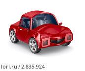 Купить «Красный автомобиль на белом фоне», иллюстрация № 2835924 (c) Ильин Сергей / Фотобанк Лори