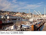 Купить «Вид на гавань Генуи, Италия», фото № 2844580, снято 22 июня 2011 г. (c) Демчишина Ольга / Фотобанк Лори