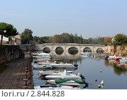 Мост Тиберия (город Римини) (2011 год). Редакционное фото, фотограф Людмила Жукова / Фотобанк Лори