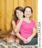 Купить «Счастливая мать с дочерью-подростком», фото № 2847204, снято 23 февраля 2011 г. (c) Яков Филимонов / Фотобанк Лори