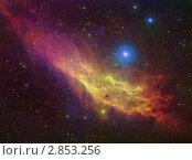 Купить «Туманность Калифорния», иллюстрация № 2853256 (c) Миронов Константин / Фотобанк Лори