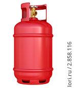 Красный газовый баллон. Стоковая иллюстрация, иллюстратор Маринченко Александр / Фотобанк Лори