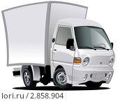 Купить «Мультяшный фургончик Hyundai Porter», иллюстрация № 2858904 (c) Александр Володин / Фотобанк Лори