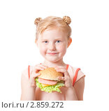 Купить «Девочка с фастфудом», фото № 2859272, снято 15 июля 2011 г. (c) Майя Крученкова / Фотобанк Лори