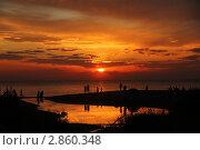 Оранжевый вечер. Стоковое фото, фотограф Elina Khvan / Фотобанк Лори