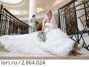 Купить «Жених и невеста в интерьерах загса», фото № 2864024, снято 10 июля 2009 г. (c) Losevsky Pavel / Фотобанк Лори