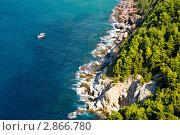 Вид на скалы и Средиземное море со смотровой площадки Аланийской крепости (2011 год). Стоковое фото, фотограф Кардаш Валерия / Фотобанк Лори