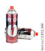 Купить «Газ в баллонах для портативной печки», фото № 2872344, снято 15 октября 2011 г. (c) Михаил Павлов / Фотобанк Лори