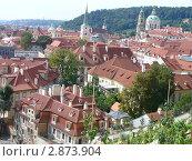 Вид на город с высоты. Стоковое фото, фотограф Надежда Яблонская / Фотобанк Лори