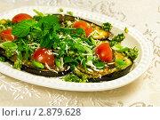 Купить «Баклажаны гриль с орешками пинии, зеленью и оливковым маслом по итальянски», фото № 2879628, снято 2 июля 2011 г. (c) ElenArt / Фотобанк Лори