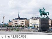 Купить «Стокгольм. Памятник Карлу XIV.», фото № 2880068, снято 2 августа 2010 г. (c) Ирина Крамарская / Фотобанк Лори
