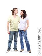 Купить «Счастливая пара смотрят друг на друга», фото № 2881696, снято 4 апреля 2010 г. (c) Losevsky Pavel / Фотобанк Лори