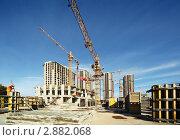 Купить «Строительство  высотных зданий», фото № 2882068, снято 27 сентября 2010 г. (c) Losevsky Pavel / Фотобанк Лори