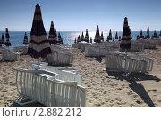 Купить «Пустой песчаный пляж», фото № 2882212, снято 30 июля 2010 г. (c) Losevsky Pavel / Фотобанк Лори
