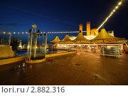 Купить «Освещенная палуба круизного судна в вечернее время», фото № 2882316, снято 13 апреля 2010 г. (c) Losevsky Pavel / Фотобанк Лори