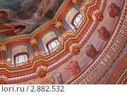 Купить «Храм Христа Спасителя в Москве, фрески на потолке и стенах», фото № 2882532, снято 25 января 2010 г. (c) Losevsky Pavel / Фотобанк Лори