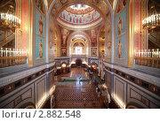 Купить «Интерьер храма Христа Спасителя», фото № 2882548, снято 25 января 2010 г. (c) Losevsky Pavel / Фотобанк Лори