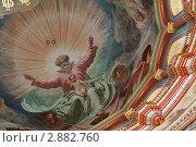 Купить «Роспись потолка в храме Христа Спасителя, Москва», фото № 2882760, снято 1 марта 2010 г. (c) Losevsky Pavel / Фотобанк Лори