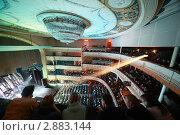 Купить «Аудитория на балконе и в зале Московского театра оперетты», фото № 2883144, снято 7 марта 2010 г. (c) Losevsky Pavel / Фотобанк Лори