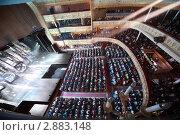 Купить «Аудитория на балконе и в зале Московского театра оперетты», фото № 2883148, снято 7 марта 2010 г. (c) Losevsky Pavel / Фотобанк Лори