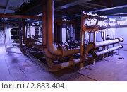 Купить «Ржавые трубы в старой котельной», фото № 2883404, снято 8 июня 2010 г. (c) Losevsky Pavel / Фотобанк Лори