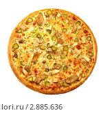 Пицца с курицей и грибами. Стоковое фото, фотограф Сергей Матвеев / Фотобанк Лори