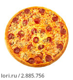 Пицца Пепперони. Стоковое фото, фотограф Сергей Матвеев / Фотобанк Лори