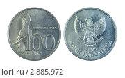 Купить «Сто индонезийских рупий», эксклюзивное фото № 2885972, снято 24 мая 2019 г. (c) Евгений Ткачёв / Фотобанк Лори
