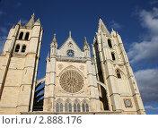 Купить «Кафедральный собор святой Марии.Город Лион Испания», фото № 2888176, снято 9 сентября 2011 г. (c) киров николай / Фотобанк Лори