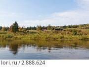 Дом на берегу реки.Северный Урал, река Вишера. Стоковое фото, фотограф Павел Спирин / Фотобанк Лори