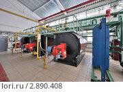 Купить «Котлы теплонасосной станции», фото № 2890408, снято 24 февраля 2011 г. (c) Илья Лиманов / Фотобанк Лори