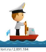 Купить «Моряк в униформе на корабле», иллюстрация № 2891184 (c) Алексей Зайцев / Фотобанк Лори
