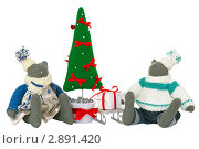 Самодельные игрушки на белом фоне. Стоковое фото, фотограф Иван Коваленко / Фотобанк Лори