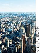 Купить «Небоскребы Нью-Йорка, вид сверху», фото № 2892484, снято 6 сентября 2010 г. (c) Elnur / Фотобанк Лори