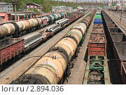 Железнодорожные вагоны (2010 год). Редакционное фото, фотограф Алёшина Оксана / Фотобанк Лори