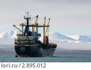 Купить «Корабль на рейде», фото № 2895012, снято 30 сентября 2011 г. (c) Максим Деминов / Фотобанк Лори