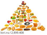 Купить «Пищевая пирамида с большим количеством элементов», фото № 2899408, снято 23 июля 2011 г. (c) Elnur / Фотобанк Лори