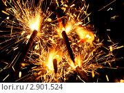 Купить «Горящие бенгальские огни», фото № 2901524, снято 17 июля 2008 г. (c) Иван Михайлов / Фотобанк Лори